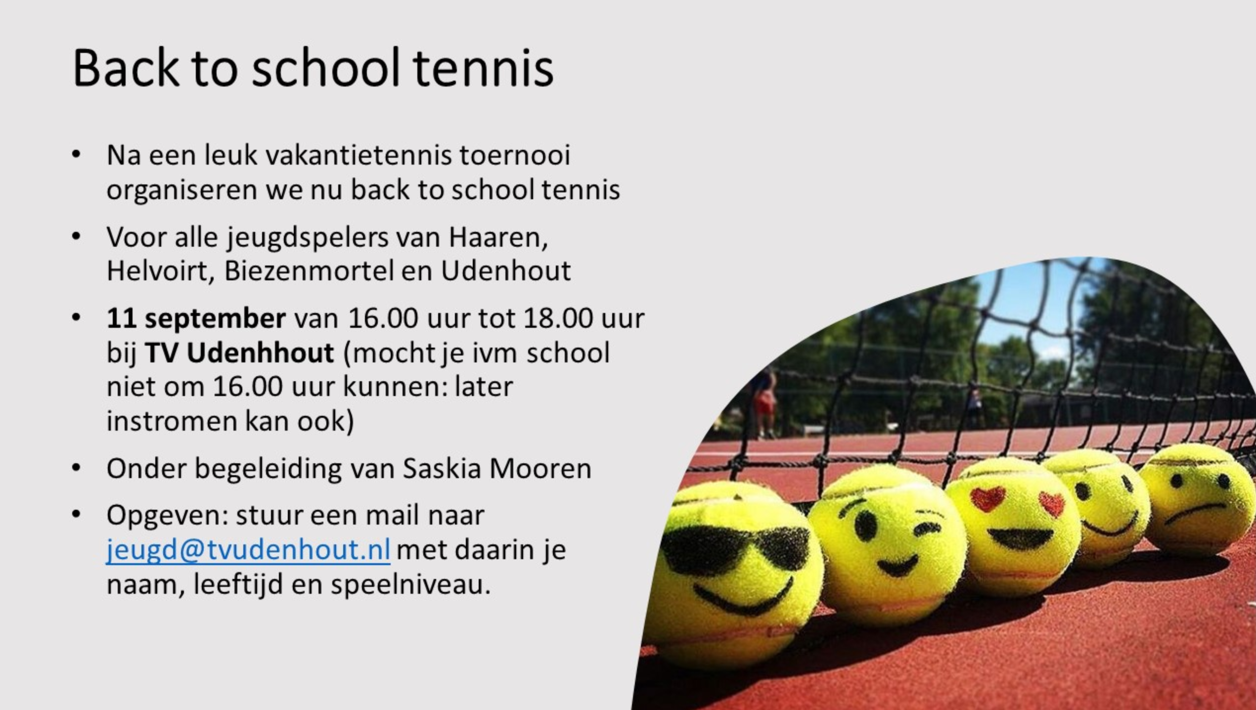 Back to school tennis